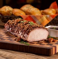 Smoked Pecan Crusted Pork Loin